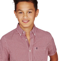Boys Vintage Red Gingham Shirt