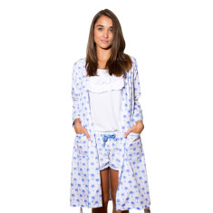 Palm Sunday blue summer robe