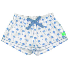 Blue palm pj shorts