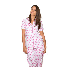 Palm Sunday pink women's pj pants