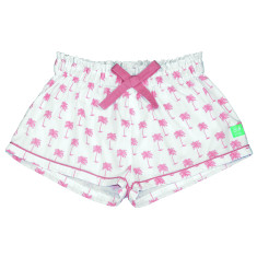 Pink palm pj shorts