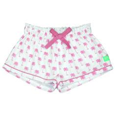Pink palm pj shorts