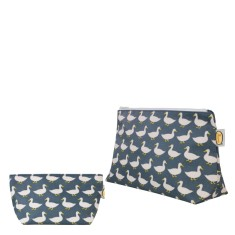 Waddling Ducks Cosmetic Toiletry Bag Set (Sml & Medium)