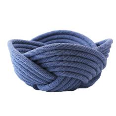 Weave bowl in indigo