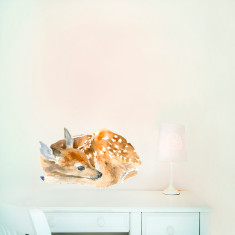 Sleeping Fawn Wall Sticker