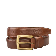 Personalised GianniB luxury leather belt for men