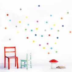 Dots Wall Stickers (Multicoloured)