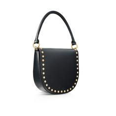 Studded Leather Bag - Black