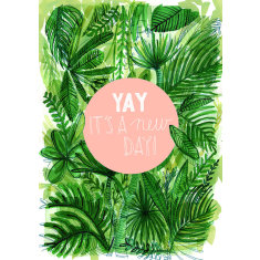 Yay A New Day! Tropical Archival Art Print