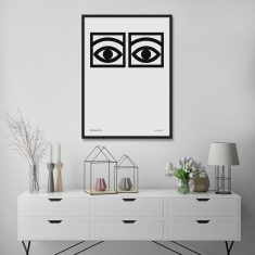 Cacao Eyes by Olle Eksell Scandi Style Art Print