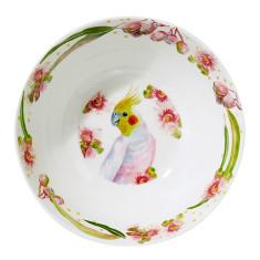Cockatiel Melamine Salad Bowl