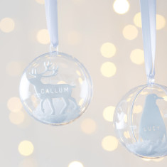 Personalised Arctic Animals Snow Bauble