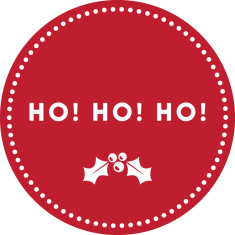 Ho! Ho! Ho! reusable fabric wall decal