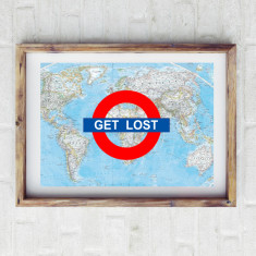 Get lost travel print