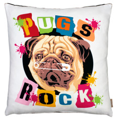 Pug's rock cushion