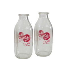 Puleos quart milk bottle set of 2