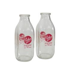Puleos quart milk bottle set of 2