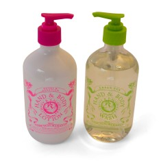 Hand & body wash & lotion gift set