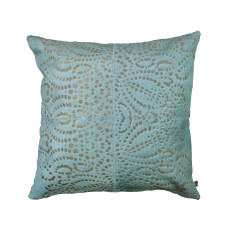Punto Loco cushion cover in Nile blue