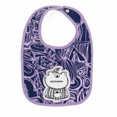 Purple monster bib