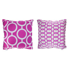 Purple chain cushion covers (set of 2)