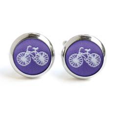 Purple Bike Cufflinks