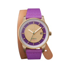 Purple gold niben watch