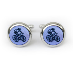 Pastel Purple Cyclist Cufflinks