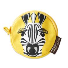Zebra yellow kids' purse