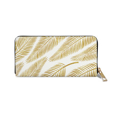 Golden Palm Vegan Leather Wallet Purse