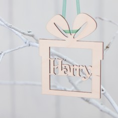 Personalised Birchwood Present Bauble