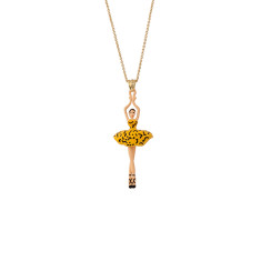 Ballerina Necklace - Yellow