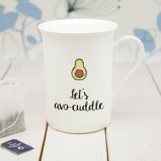 Personalised Let's Avo-Cuddle Bone China Mug