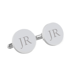 Personalised round classic monogram cufflinks