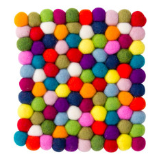 Large square wool felt trivets (various colours)