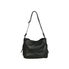 Matilde genuine leather shoulder bag in black