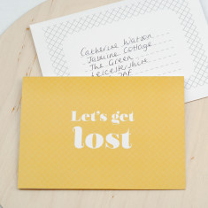 Let's get lost anniversary card