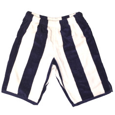 Men's blue Bomber shorts made from a towel