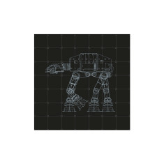 IXXI Star Wars galaxy reversible wall art