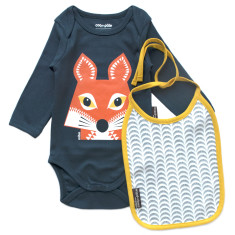 Fox onesie and bib set