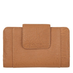 Precipice leather wallet in tan