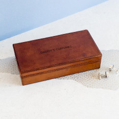 DADDY'S CUFFLINKS leather cufflink box