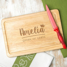 Personalised 'Queen Of Cakes' Baking Board