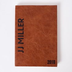 Personalised Vintage Letterpress Diary 2018 - Luxury Italian Leather