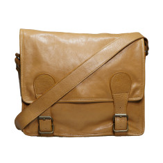 Camel 13 inch Gustaf satchel messenger bag