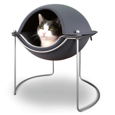 Hepper pod pet bed in grey