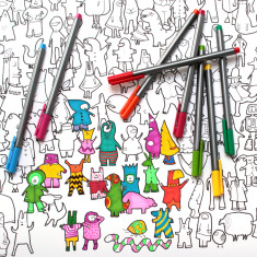 Oddbods colouring poster