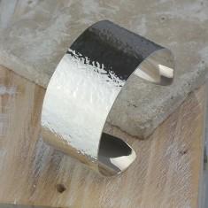 Hellenic Hammered Silver Bracelet