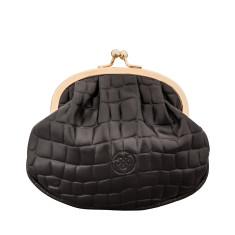 The Sabina Croco Luxury Italian Leather Frame Purse