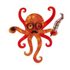 Erstwilder Octavious the octo-scribe brooch